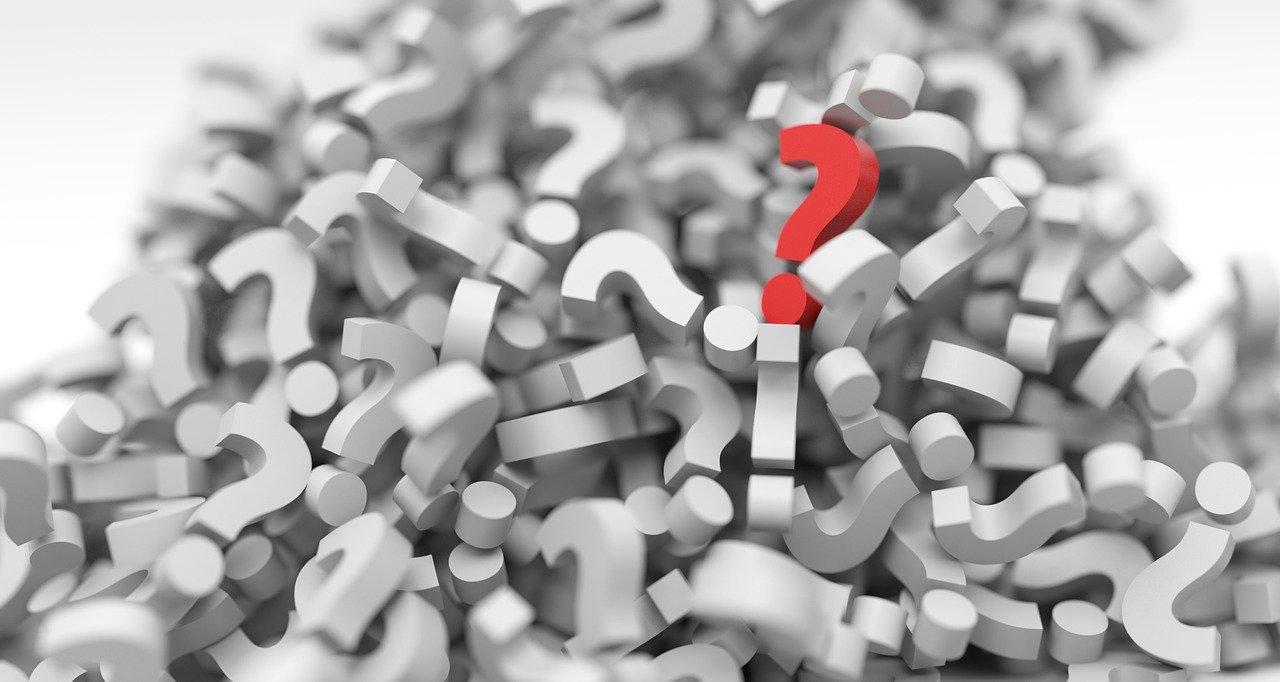 question mark, pile, question