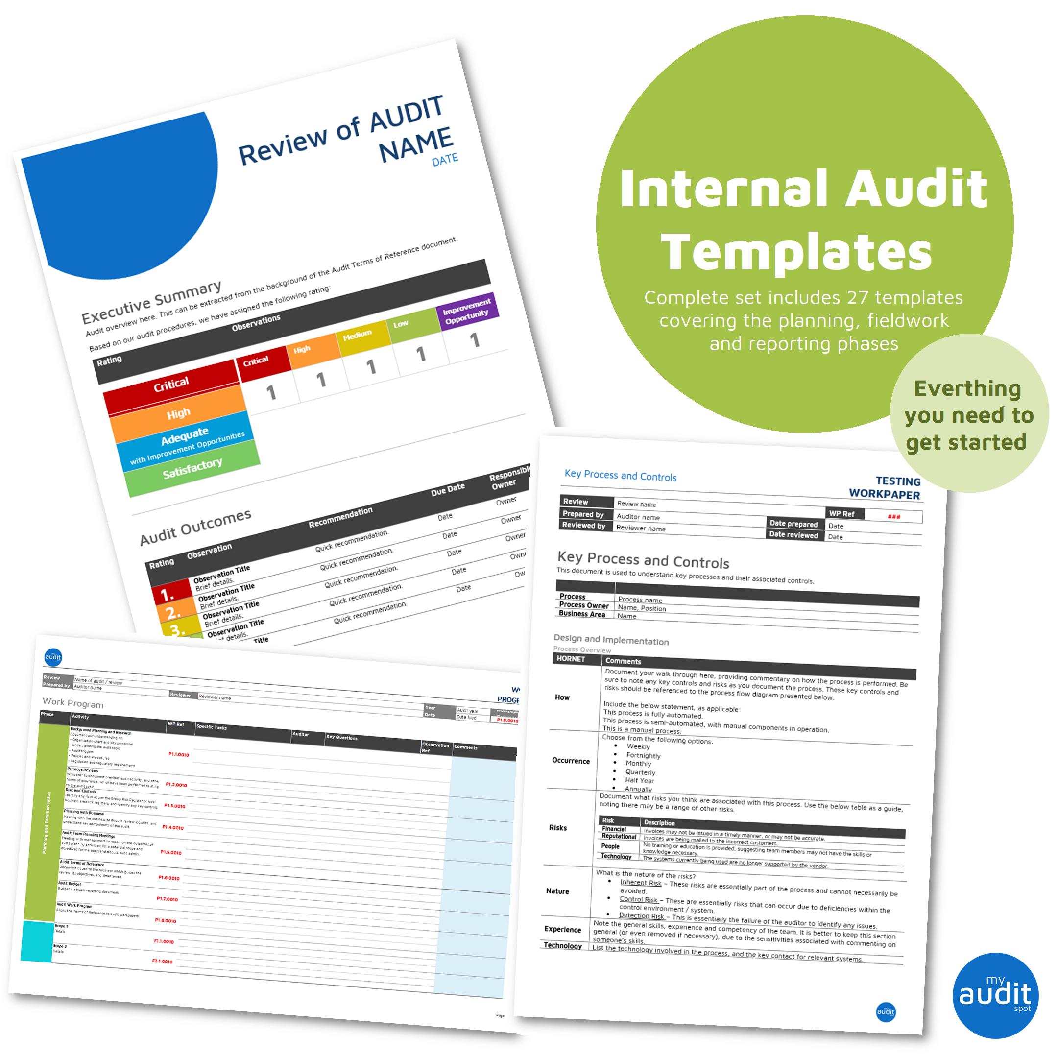 Internal Audit Template Set v2